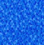 导航几何三角背景,在蓝色颜色的无缝的样式 免版税库存图片