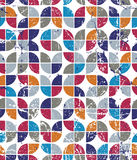 导航几何五颜六色的郁金香帆布,磨损的抽象无缝 免版税库存图片
