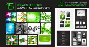 导航几何抽象背景和分切器的兆收藏 免版税图库摄影