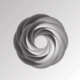 导航几何背景的例证与黑白圆形的 库存照片