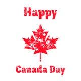 导航加拿大日的例证与在葡萄酒样式的红槭叶子 设计海报的,横幅, flayer,问候, i模板 库存图片