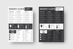 导航咖啡馆和餐馆的模板菜单有l块的  库存例证