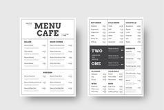 导航咖啡馆和餐馆的设计菜单有分裂的我 库存例证