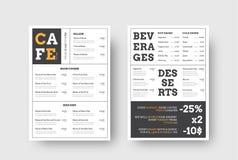 导航咖啡馆和餐馆的设计菜单有水平的blo的 库存例证