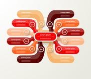 导航图的,图表,介绍infographic模板和 免版税库存照片