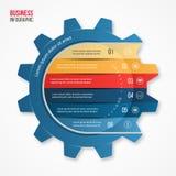 导航图表、图、图和其他infographics的企业和产业齿轮样式infographic模板 免版税图库摄影
