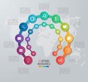 导航图表的,图,图圈子infographic模板 免版税图库摄影