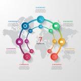 导航图表的,图,图圈子infographic模板 免版税库存照片
