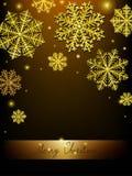 导航圣诞节书法设计雪花,与金子纹理 皇族释放例证