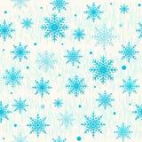 导航圣诞节无缝的样式的例证与雪花的 免版税库存图片