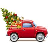 导航圣诞节红色提取 皇族释放例证