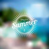 导航在一个暑假题材的例证在被弄脏的背景 库存例证