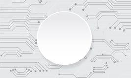 导航在白色背景的抽象未来派电路板 免版税库存图片