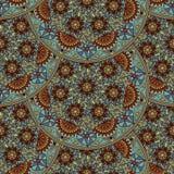 导航在阿拉伯样式的花卉无缝的样式元素 蔓藤花纹样式 东部种族装饰品 库存例证