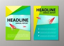 导航在A4的公司小册子飞行物设计版面模板 库存照片