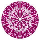 导航坛场,圆的几何装饰品,风格化花卉样式 设计元素五颜六色在白色