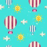 导航夏天五颜六色的例证,旅行,假日 免版税库存图片