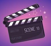 导航大拍板的例证在紫色背景的 免版税库存照片