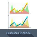 导航平的企业图表和图在灰色背景 库存图片