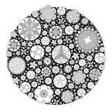 导航彩图长大的和成人的单色花卉装饰样式 图库摄影
