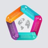 导航您的企业介绍的五颜六色的信息图表 免版税库存照片