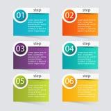 导航您的企业介绍的五颜六色的信息图表 免版税图库摄影