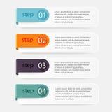 导航您的企业介绍的五颜六色的信息图表 C 免版税图库摄影