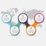 导航您的企业介绍的五颜六色的信息图表 C 免版税库存图片