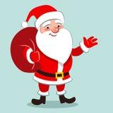 导航愉快的快乐的传统圣诞老人的动画片例证 免版税图库摄影