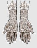 有无刺指甲花纹身花刺的手 免版税库存照片