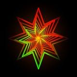 导航抽象三角霓虹星背景的例证 免版税库存照片