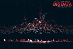 导航抽象五颜六色的财政大数据图表形象化 未来派infographics审美设计 免版税库存照片