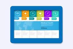 导航抽象医疗保健科学医疗象概念backgro 库存例证