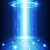 导航抽象未来技术,电电信背景 免版税库存图片
