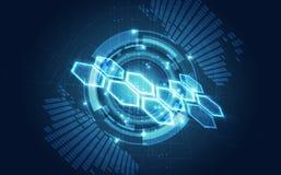 导航抽象未来派电路板,例证高数字技术蓝色颜色 库存例证