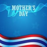 导航抽象现代母亲节概念和泰国旗子背景 免版税库存照片