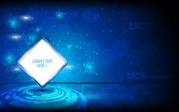 导航抽象空白的标志模板商标数字式技术创新概念背景 免版税图库摄影