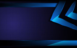 导航抽象蓝色长方形形状高科技概念背景 免版税库存照片