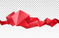 导航抽象雕琢平面的水晶横幅, 3d与三角的形状,几何,现代模板 免版税库存照片