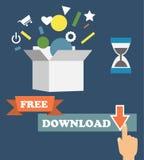 导航描述freemium业务模式的infographics -免费 皇族释放例证