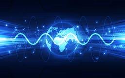 导航数字式全球性技术概念,抽象背景 免版税库存图片