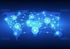 导航数字式全球性通信技术,抽象背景 皇族释放例证