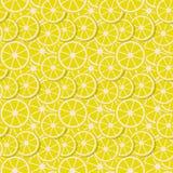 导航无缝的在平的样式的背景新柠檬切片 库存例证