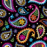 导航无缝的装饰花卉刺绣样式,纺织品装饰的装饰品 漂泊手工制造样式背景 皇族释放例证