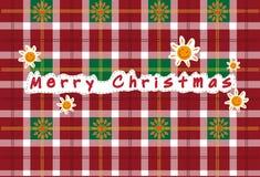 导航无缝的christan格子呢,格子呢样式,圣诞卡 免版税库存照片