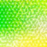 导航明亮的发光的春天摘要背景-绿色和黄色春天和夏天颜色的例证 免版税图库摄影