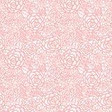 导航柔和的粉红彩笔鞋带玫瑰无缝的重复样式背景 伟大为婚姻的或新娘阵雨装饰 向量例证
