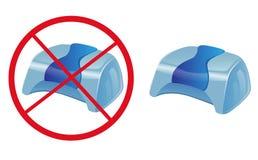 导航标志没有紫外灯钉子烘干机-蓝色设计 皇族释放例证