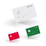 导航模板与阴影和反射的付款卡片 免版税库存图片