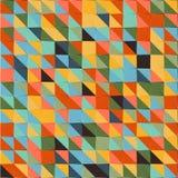 导航浅兰,绿色,红色,橙色和黄色三角背景 库存照片